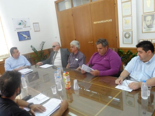 Συνάντηση με τον Περιφερειάρχη Κρήτης Σταύρο Αρναουτάκη