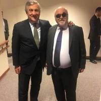 Με τον Πρόεδρο του Ευρωκοινοβουλίου Antonio Tajiani
