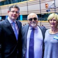 Με την Maureen Piggot Ταμία του EDF και ο Adam Kosa Ευρωβουλευτής
