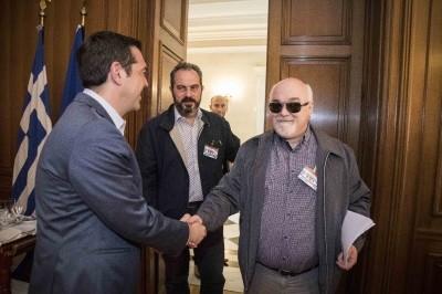Χαιρετισμός με τον Πρωθυπουργό Αλέξη Τσίπρα
