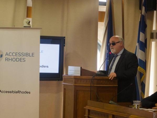 Ομιλία του Ι.  Βαρδακαστάνη στην ενημερωτική εκδήλωση