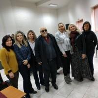 Ο Ι. Βαρδακαστάνης με το το επιστημονικό προσωπικό, κοινωνικοί λειτουργοί, ψυχολόγοι, διοικητικοί κ.α του Κέντρου Κοινότητας Δήμου Κομοτηνής