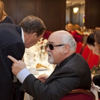 """Ο Ιωάννης Βαρδακαστάνης μιλάει με τον Πρόεδρο του ΠΣΝ """"Γεώργιος Καστρινάκης"""" Ξενοφών Λύρο"""