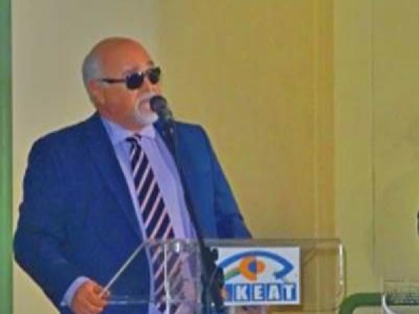 Κατά τη διάρκεια της ομιλίας του Ι. Βαρδακαστάνη