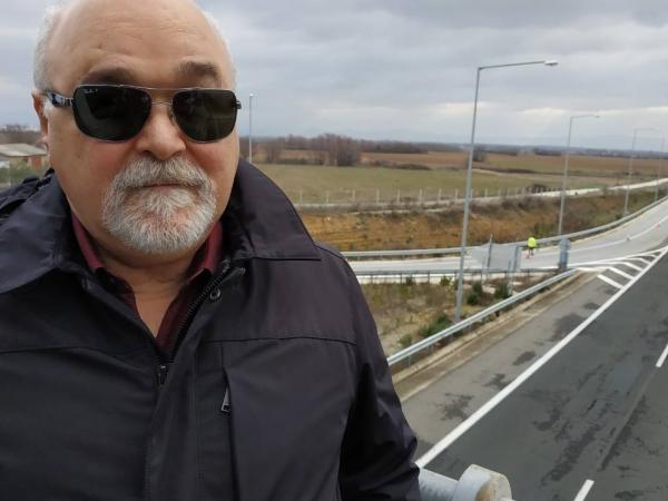 Ο Ι. Βαρδακαστάνης στον Ανισόπεδο Κόμβο ΒΙΠΕ Κομοτηνής στην Εγνατία οδό