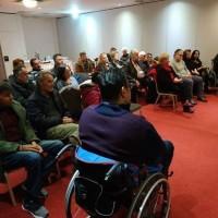 Στο Βόλο, η κατάμεστη αίθουσα συσκέψεων από τοπικούς εκπροσώπους φορέων αναπηρίας