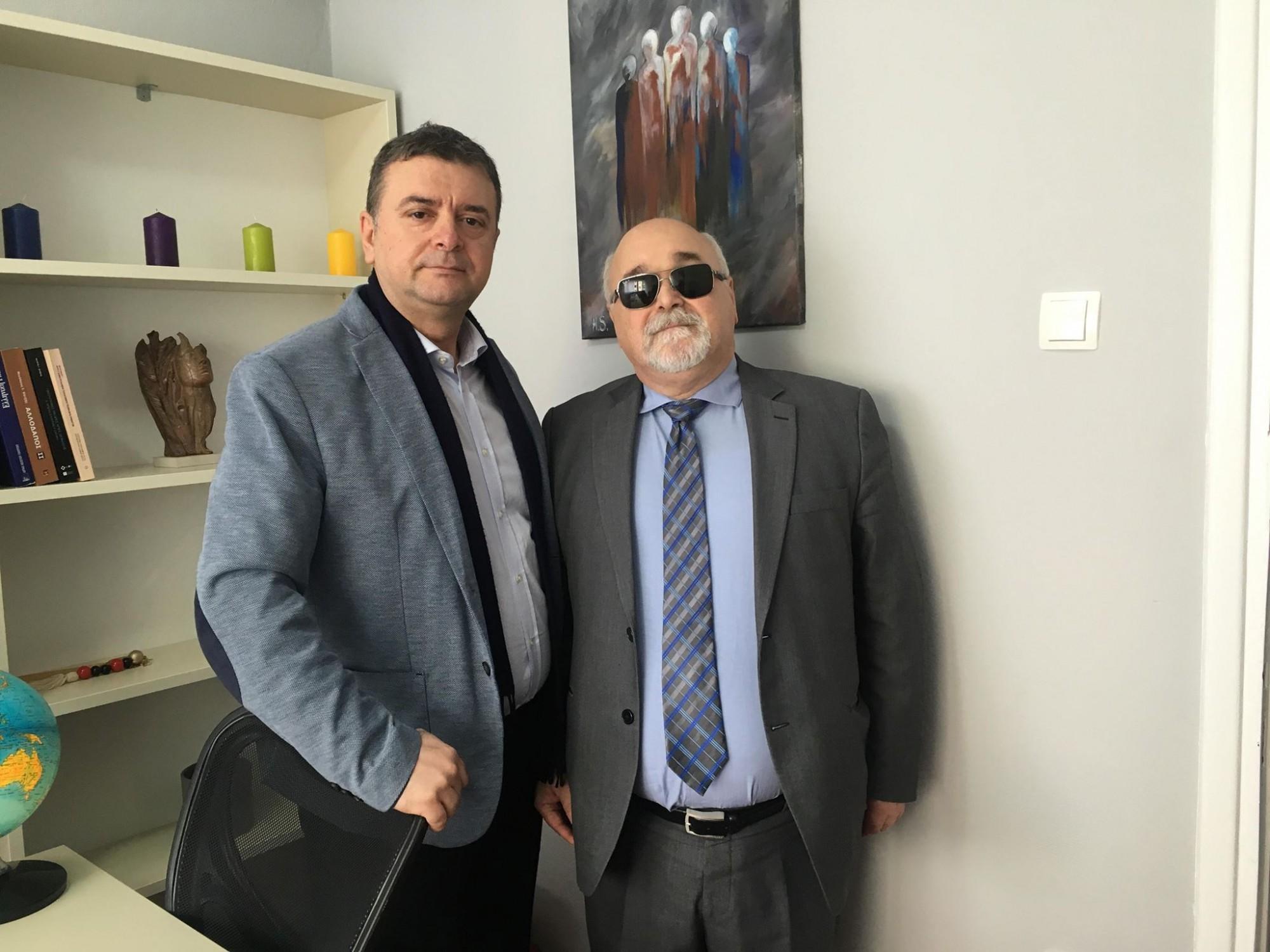 Ο Ι. Βαρδακαστάνης με τον Fatos Malaj