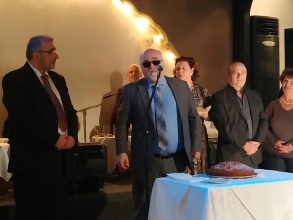 Ο Ι. Βαρδακαστάνης κατά τη διάρκεια της ομιλίας του στην εκδήλωση