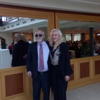 Ο Ι. Βαρδακαστάνης με την Πρόεδρο του ΠΑΣΕΣΠΑ Ομίλου ΟΤΕ, Γεωργία Μπαντούνα