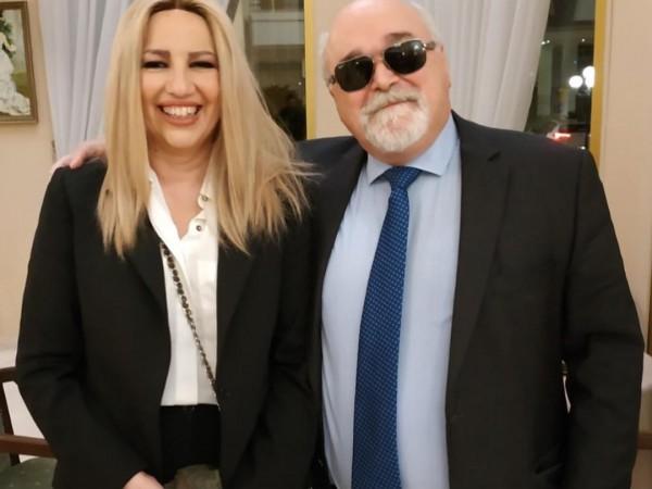 Ο Ι. Βαρδακαστάνης με την Επικεφαλής του Κινήματος Αλλαγής Φ. Γεννηματά