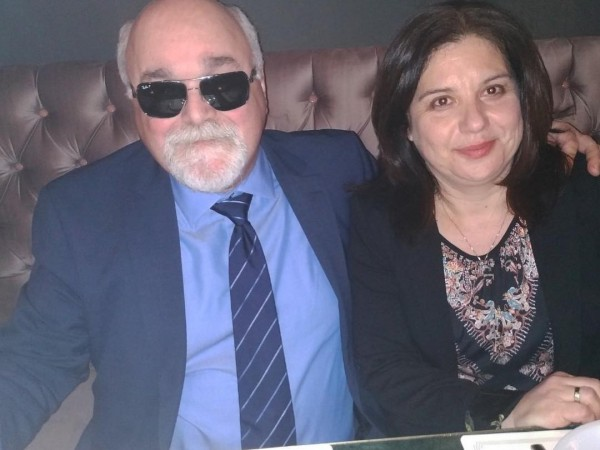 Ο Ι. Βαρδακαστάνης με την Πρόεδρο του ΣΚΛΕ Φυλλιώ Αθανασίου