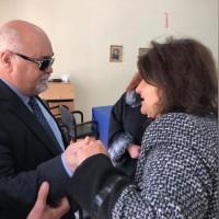 Ο Ι. Βαρδακαστάνης συνομιλεί με συμμετέχοντες στην εκδήλωση στη Σπάρτη, 13 Μαρτίου 2019