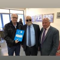 Ο Ι. Βαρδακαστάνης με εκπροσώπους του αναπηρικού κινήματος στη Σπάρτη, 13 Μαρτίου 2019