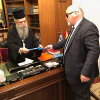 Ο Ι. Βαρδακαστάνης με το Σεβασμιώτο στη Σπάρτη, 13 Μαρτίου 2019