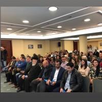 Άποψη της αίθουσας κατά τη διάρκεια της παρουσίασης του βιβλίου «Τα Δικαιώματά σου στην Ε.Ε» στην Καλαμάτα- 13 Μαρτίου 2019