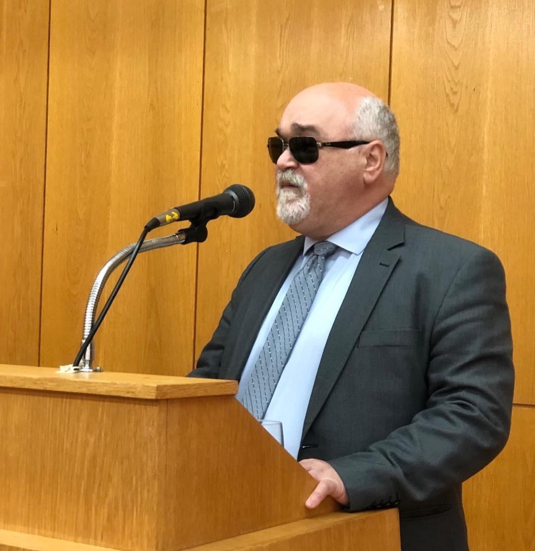 Ο Ι. Βαρδακαστάνης κατά τη διάρκεια ομιλίας του