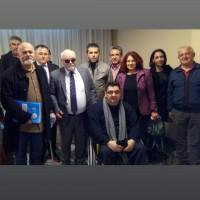Ο Ι. Βαρδακαστάνης με συμμετέχοντες στην εκδήλωση και εκπροσώπους του αναπηρικού κινήματος