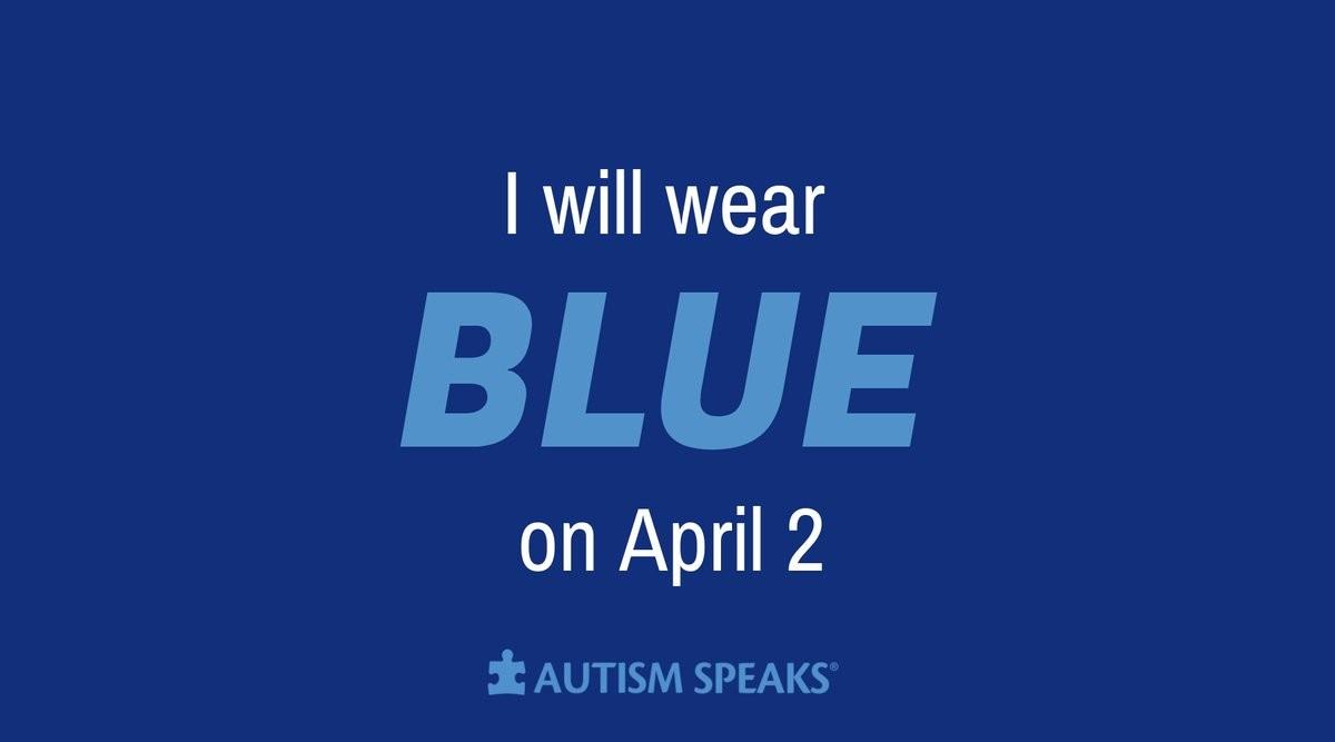 Το σύνθημα φοράω μπλε με αφορμή την παγκόσμια μέρα αυτισμού