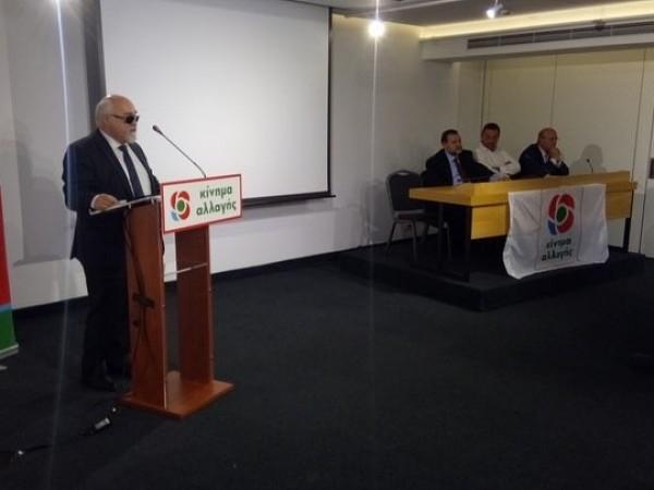 O I. Βαρδακαστάνης κατά τη διάρκεια της ομιλίας του