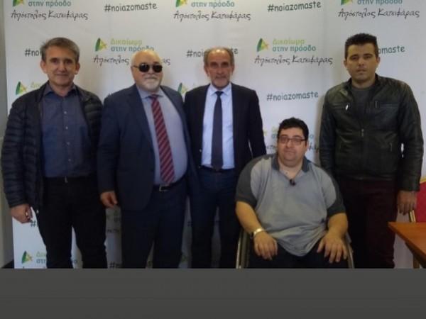 Ο Ι. Βαρδακαστάνης με του Απ. Κατσιφάρα, Αντ, Χαροκόπο, Αν. Λιβανό και Θ. Γκορίλα