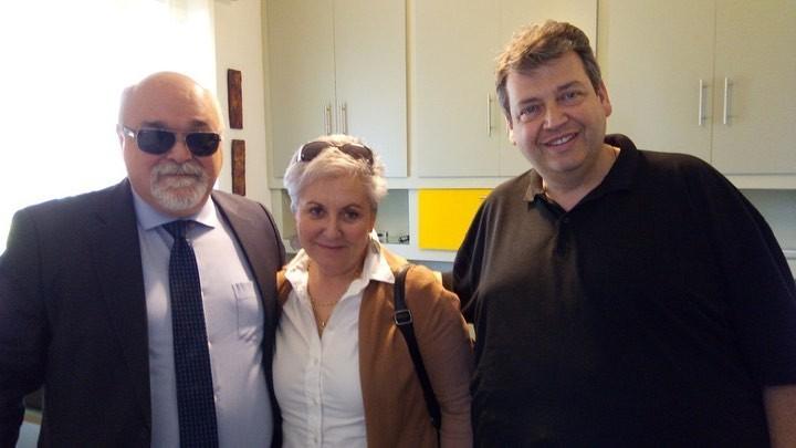 Ο Ι. Βαρδακαστάνης με τη Ράνια Καρανικόλα και τον Απ. Μιχαλόπουλο