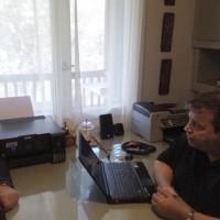 Ο Ι. Βαρδακαστάνης με τον Απ. Μιχαλόπουλο