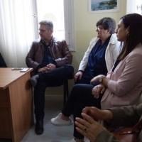 Ο Ι Βαρδακαστάνης με τον υποψήφιο βουλευτή Μαγνησίας, Γιάννη Αναστασίου και υποψήφιους περιφερειακούς συμβούλους