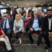 Ο Ι. Βαρδακαστάνης με την Πρόεδρο του Κινήματος Αλλαγής Φ. Γεννηματά και τον Αντιπρόεδρο του ΕΟΠΥΥ Π. Γεωργακόπουλο κατά τη διάρκεια της έκθεσης
