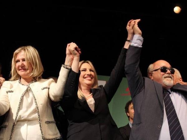 ο Ι. Βαρδακαστάνης με την Πρόεδρο του Κινήματος Αλλαγής Φ. Γεννηματά