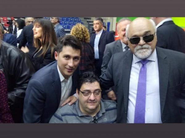 Ο Ι. Βαρδακαστάνης με τον Αν. Χαροκόπο και τον Π. Χρηστίδη