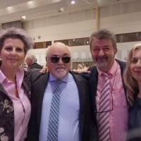 Ο Ι. Βαρδακαστάνης με το Δήμαρχο Νεάπολης Συκεών Σίμο Δανιηλίδη και συμμετέχοντες στην εκδήλωση