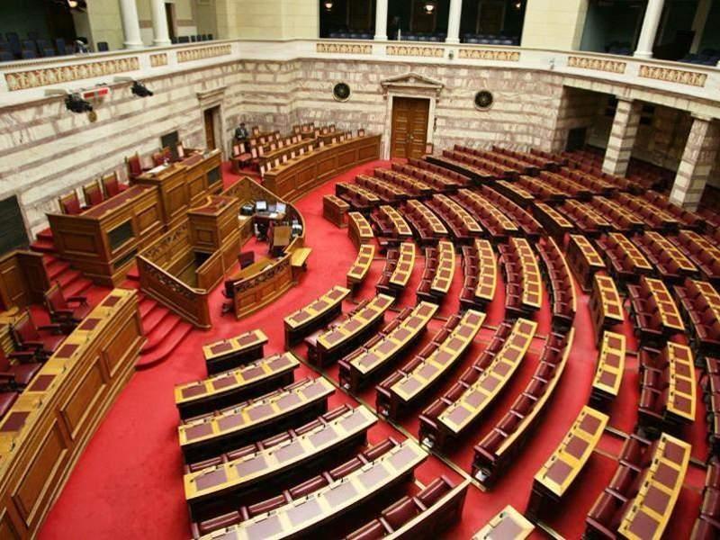 Άποψη της αίθουσας της Βουλής