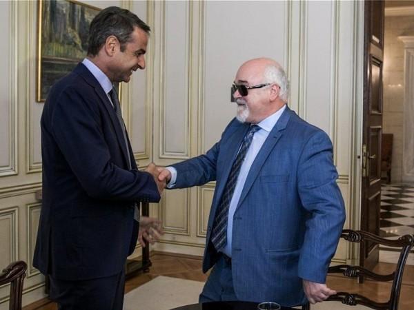 Ο Ι. Βαρδακαστάνης με τον Πρωθυπουργό Κυριάκο Μητσοτάκη