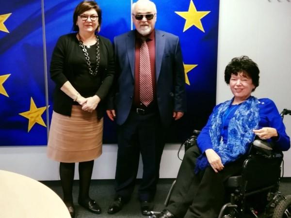 O I. Βαρδακαστάνης με την Επίτροπο Μεταφορών της ΕΕ