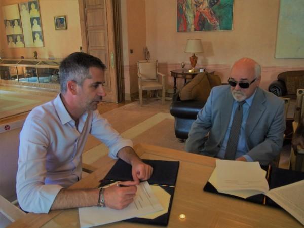 Ο Ι. Βαρδακαστάνης με τον Κ. Μπακογιάννη